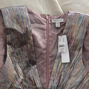 Topshop Dresses - BNWT Topshop iridescent metallic cocktail dress